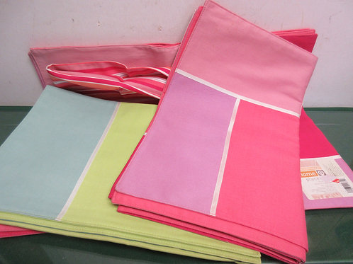 Contemporary Home pastel table cloth & 7 placemats
