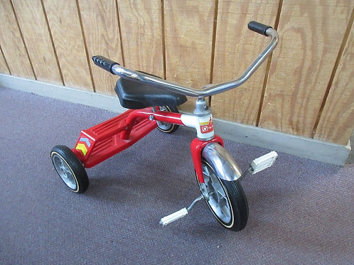 Hedstrom children's red & chrome tricyle