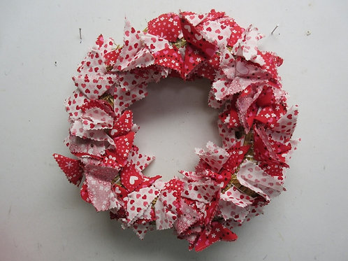 "Valentine straw wreath 13"" diameter"