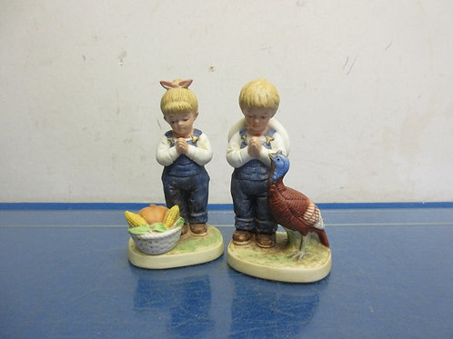 Home Interiors statues of boy & girl praying