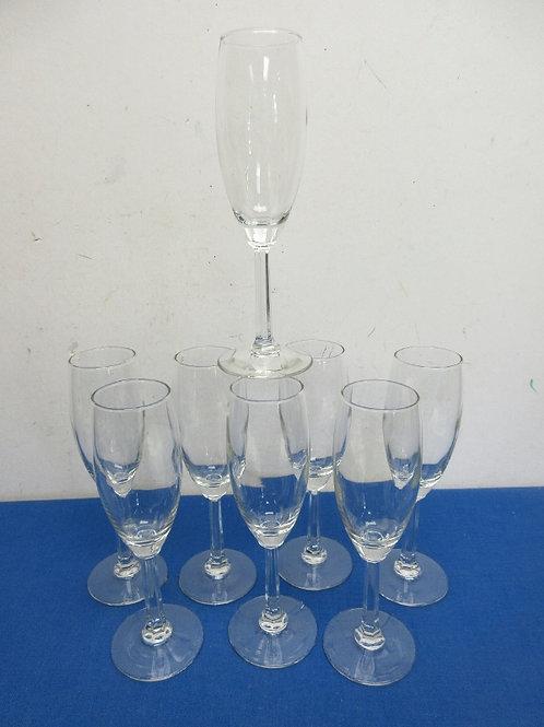 Set of 8 stemmed champagne or whiskey sour glasses