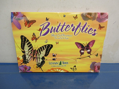 "Box of 15 ""Butterfly"" blank cards with envelopes"