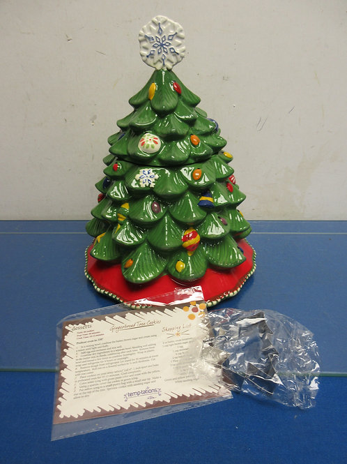 Temptations christmas tree shaped cookie jar,