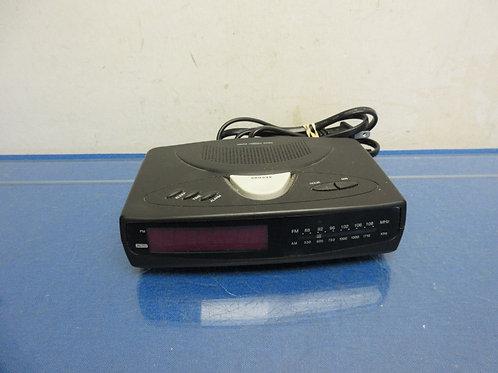 Small AM-FM clock radio