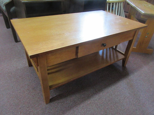 """Mission style coffee table with drawers, 22x37x18""""high"""