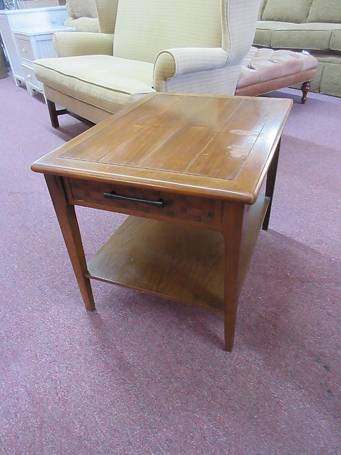 Mid Century style rectangular end table with drawer - some wear on top