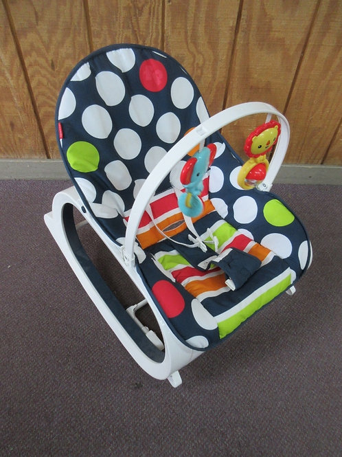 Fisher Price infant-to-toddler rocker - navy with colors