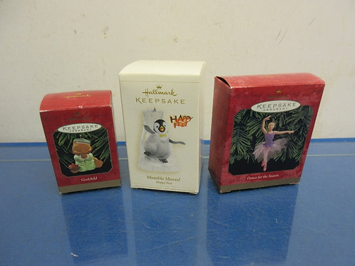 Hallmark Keepsake Ornaments - Set of 3 assorted ornaments - 7 sets avail