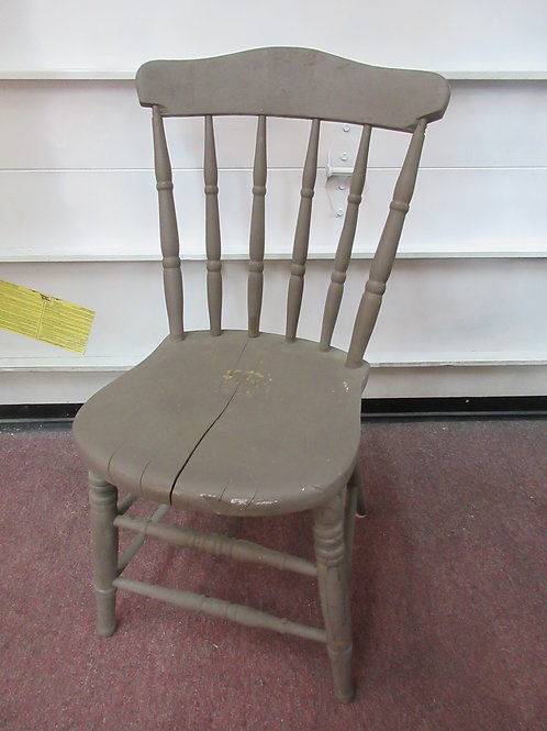 Gray spindle back shabby chic side chair