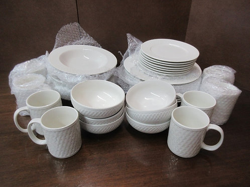 Pfaltzgraff white Dinnerware - 38 piece, 2 small bowls short of being a complete
