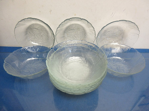Set of 12 medium glass bowls
