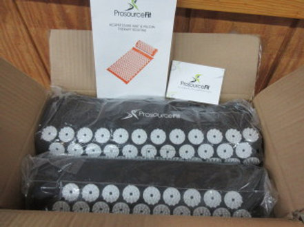 ProSource Fit accupressure mat and pillow - therapy routine - new