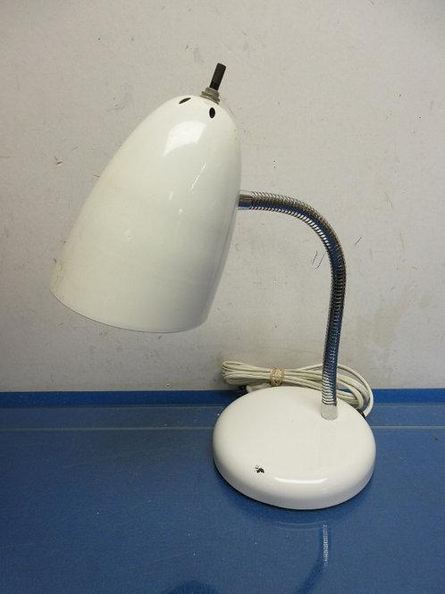 White flexible desk lamp