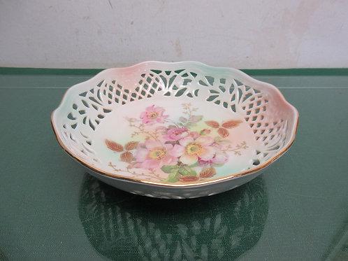 Shumann Arzberg German decorative bowl with open weave design
