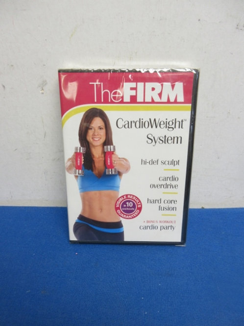 The Firm cardio weight system, 10 workout DVD, new sealed