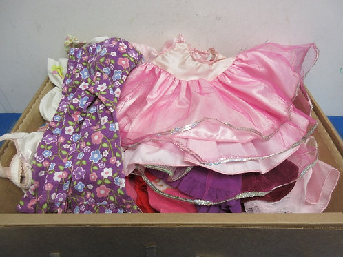 """Box of over 20 clothing items for an 18"""" doll"""