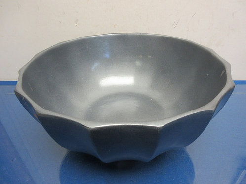 "Large gray  ceramic bowl 12"" dia x 6"""