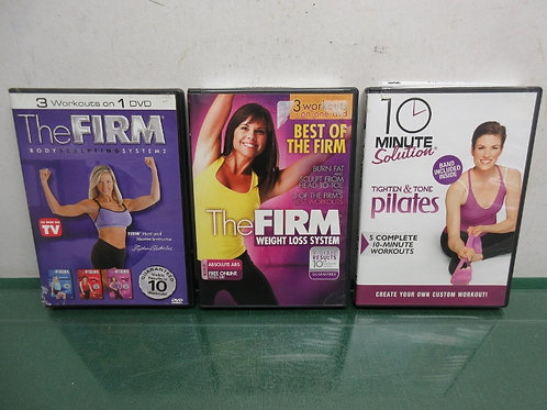 Set of  3 weight loss dvd's -the firm weight loss system, tighten and tone, body