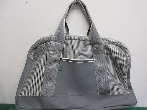 DSW gray tote with mesh accent with adj strap