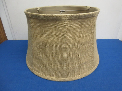 """Burlap drum style lamp shade,10"""" high, 2 available"""