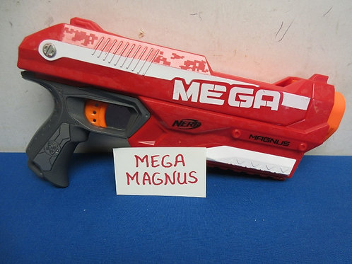 Nerf mega magnus red gun - only shoots jumbo darts - one included