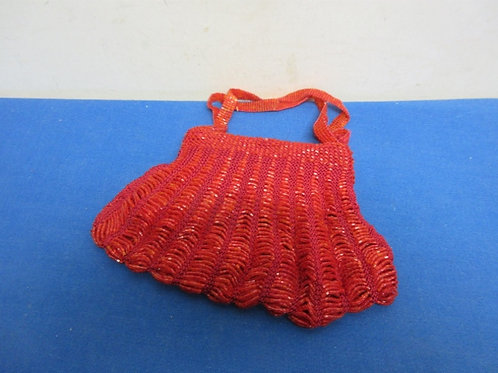 Small  red  beaded evening purse