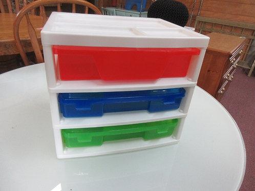Iris table top 3 drawer scrapbooking/craft organizer