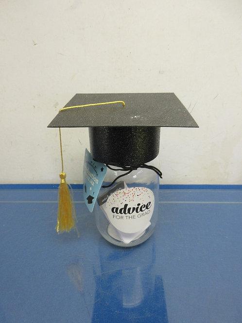"""Graduation advice jar, 7"""" tall"""