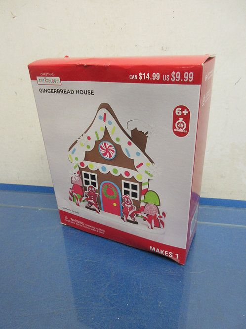 Gingerbread house cloth craft kit for ages 6 and up, 4 kits available