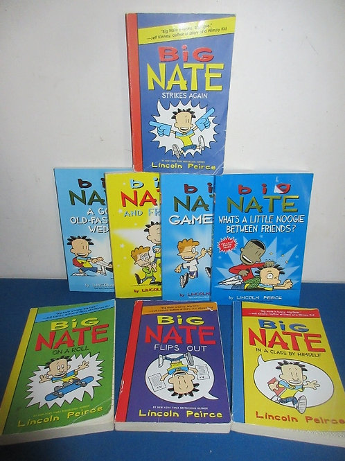 Group of 7 Big Nate chapter paperback books