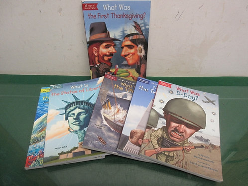 """Set of 6 """"who was…"""" children's paperback books - history theme"""