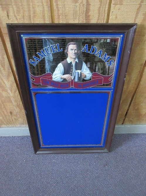 Samuel Adams, the best beer in America, framed wipe off mirror,wood frame 19x29