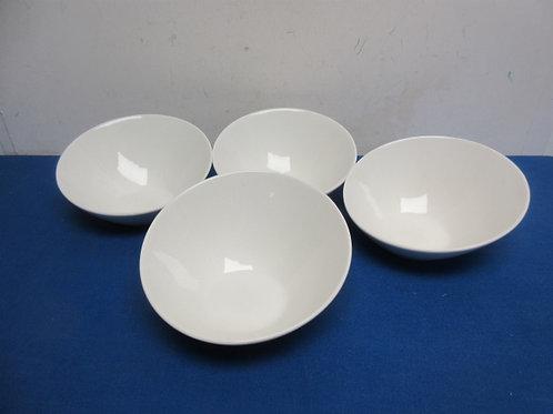 Cordon Bleu set of 4 white ceramic bowls