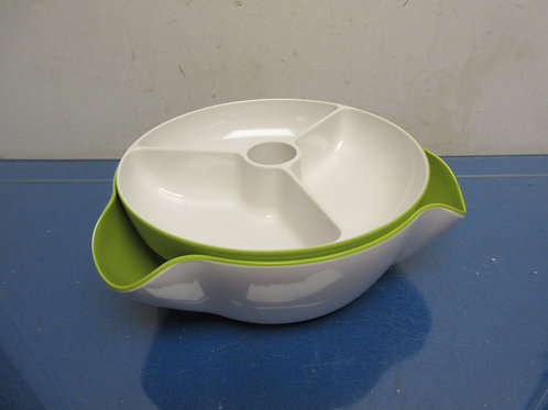 Joseph Joseph double dish snack bowl-white & green, 2 pieces