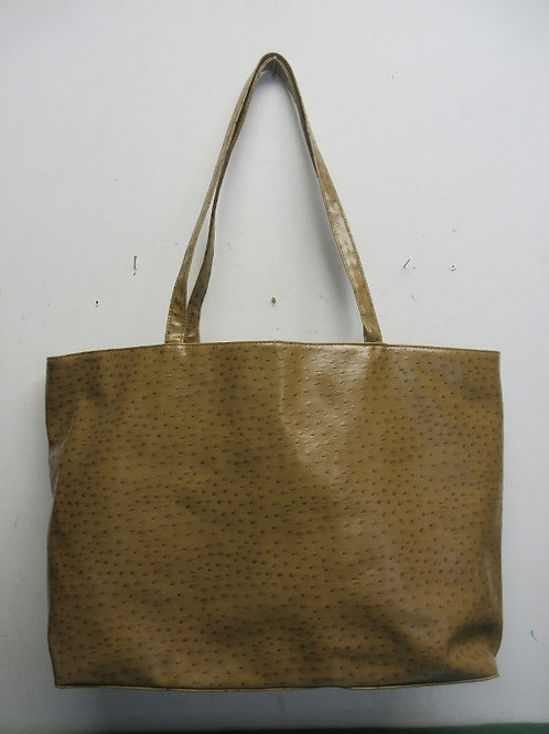 Beige vinyl large tote purse