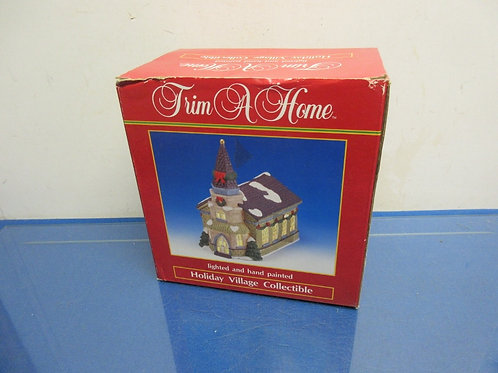 Trim a Home lighted & hand painted holiday village church, in box