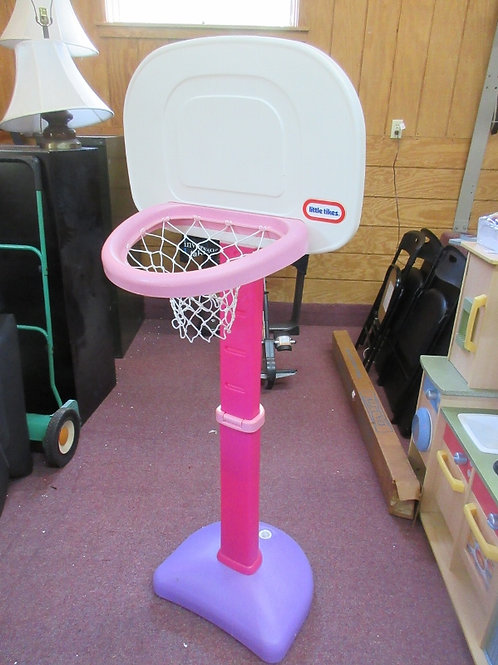 Little Tikes pink/purple adjustable basketball hoop, No ball