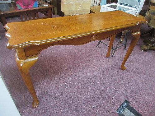 """Medium tone queen anne sofa table 48x16x27""""high"""