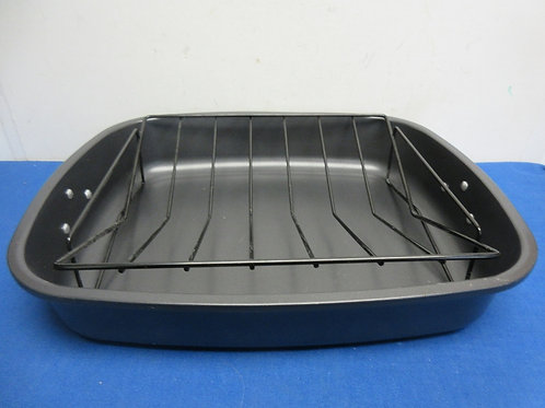 """Non stick roasting pan with lift out rack, 14x17x3""""deep"""