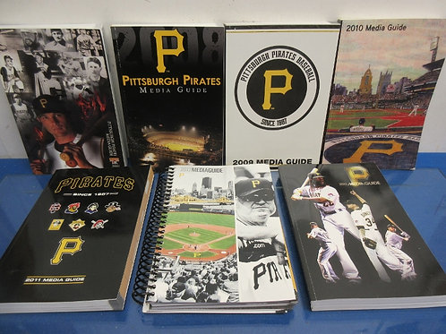 Set of 7 Pittsburgh Pirate media guies 2007 thru 2013