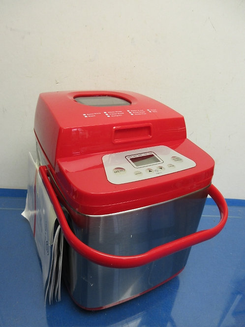 Cooks Essential stainless steel & red breadmaker