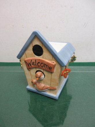 Birdhouse candle power scented oil warmer