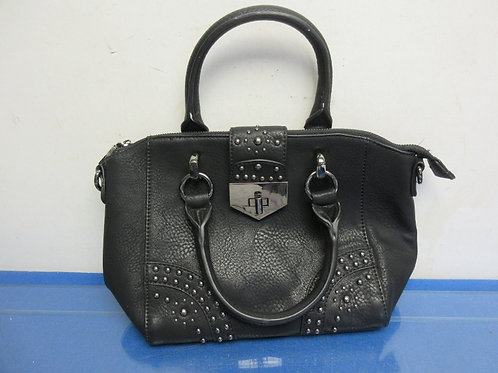 Charlie black leather purse