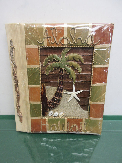 Aloha Hawaii photo album for 4x6 photos, made of natural items