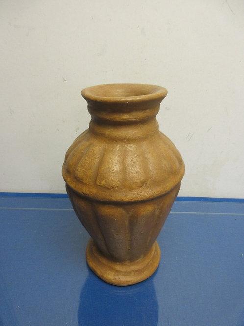 """Large light brown pottery jar vase 11.5""""high"""