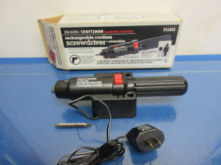 Craftsman rechargeable cordless screw driver