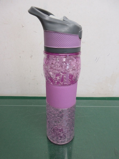 Pink crackled style water bottle
