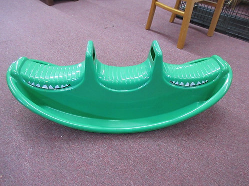 Green plastic alligator children's see-saw
