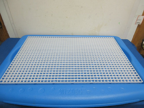 WizDog indoor dog potty-blue with removable plastic grate