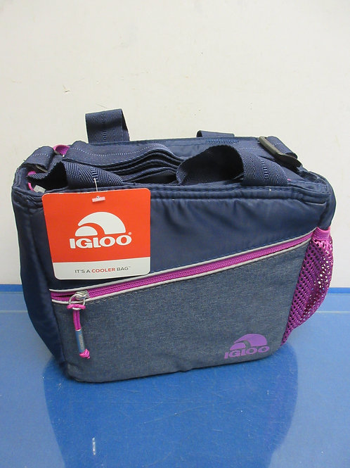 Igloo blue and purple insulated small soft-sided cooler